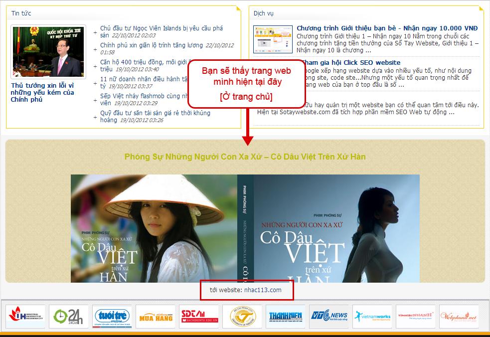 Hướng dẫn đăng ký web vào phần mềm SEO Website tự động