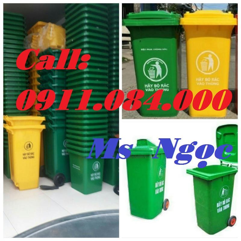Bạc Liêu: Địa chỉ báo giá thùng rác dung tích 120L 240L rẻ nhất 0911.084.000 Ms Ngọc