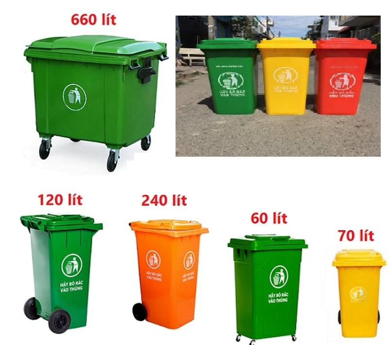 Bán thùng rác công cộng 120 lít, 240 lít, 660 lít nhựa HDPE giá rẻ  0911084000 Ms. DUY