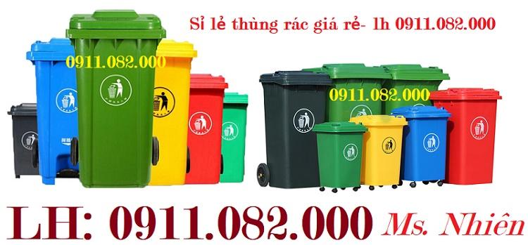 Chuyên bán thùng rác nhựa giá rẻ- thùng rác 120L 240L 660L đủ màu sắc giá thấp-lh 0911082000