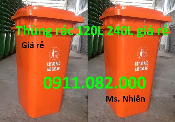Chuyên bỏ sỉ thùng rác 120L 240L giá rẻ cho đại lý- thùng rác giá rẻ tại đồng tháp- lh 0911082000