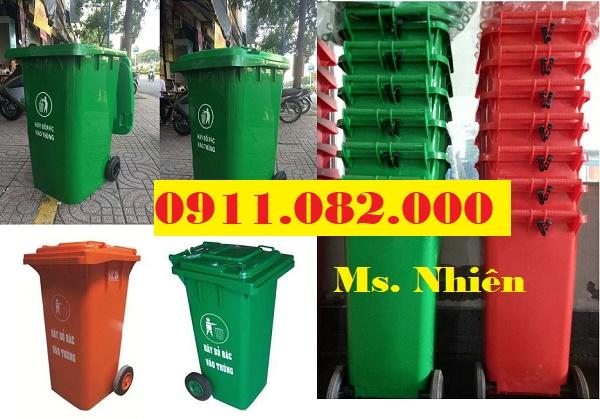 Chuyên cung cấp thùng rác cho các đại lý giá sỉ- Thùng rác 120L 240L giá rẻ tại cà mau- lh 0911082000
