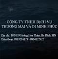 Công ty TNHH dịch vụ thương mại và in Minh Phúc
