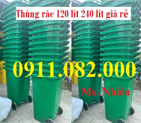 Công ty cung  cấp thùng rác 120L 240L giá rẻ tại tỉnh sóc trăng- lh 0911.082.000