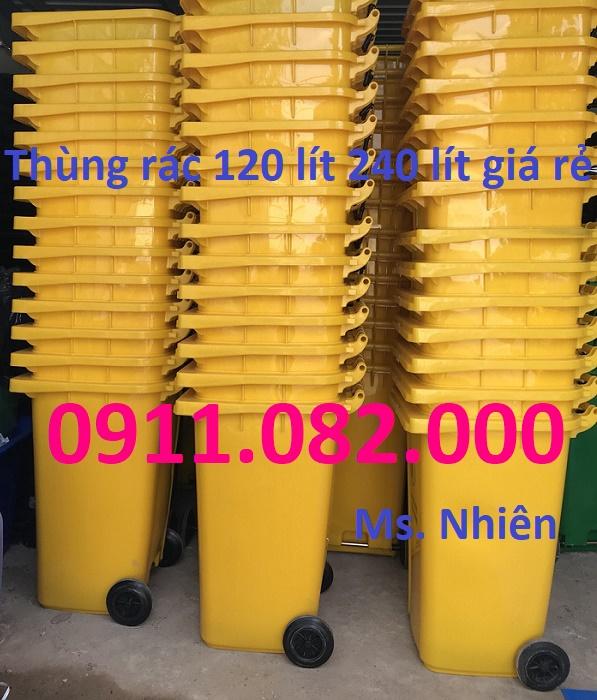 Công ty thùng rác nhựa giá rẻ tại sóc trăng, thùng rác 120 lít 240 lít 660 lít. lh 0911082000