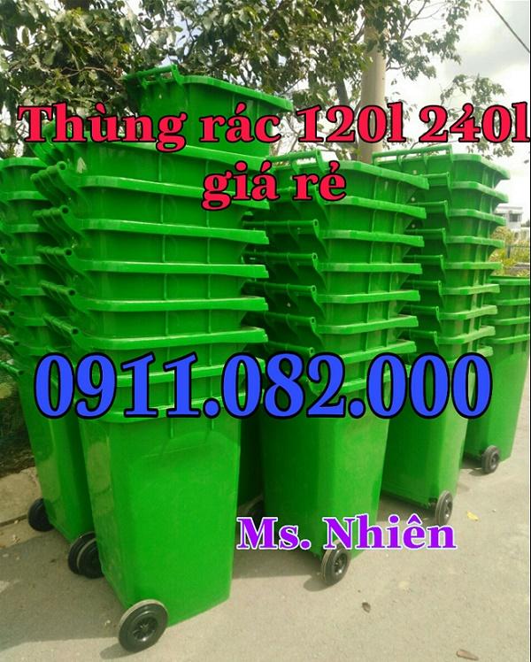 Cung cấp thùng rác 120L 240L 660L giá rẻ tại cần thơ- lh 0911.082.000
