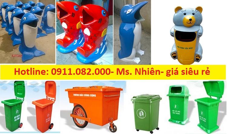 Cung cấp thùng rác 120 lít, 240 lít, 660 lít giá rẻ tại quận 8, quận 9, quận 10- lh 0911082000
