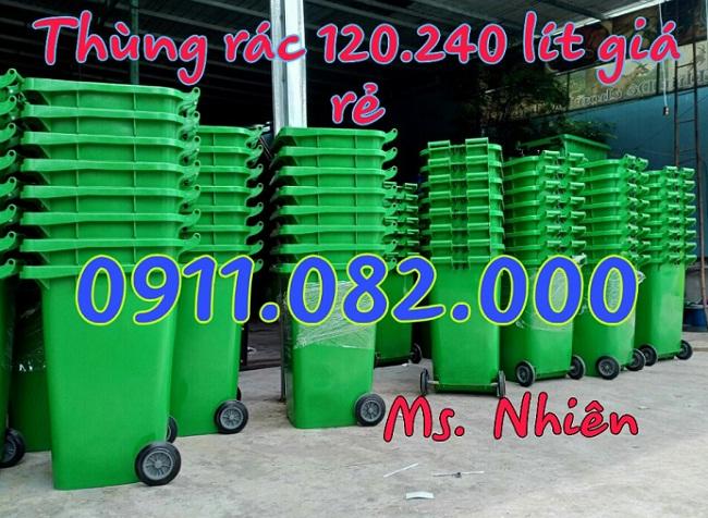 Cung cấp thùng rác nhựa 120L 240L giá rẻ, thùng rác y tế đạp chân, thùng rác công nghiệp- lh 0911082000