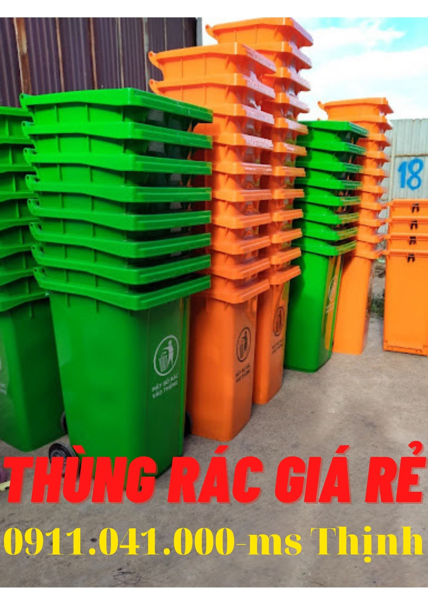 Đại lý thùng rác đồng nai, thùng rác 120lit 240lit lh 0911.041.000