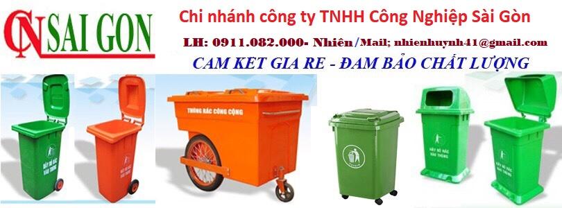 Giá thùng rác 240 lít tại cần thơ- Thùng rác môi trường, thùng rác công cộng giá rẻ- lh 0911082000