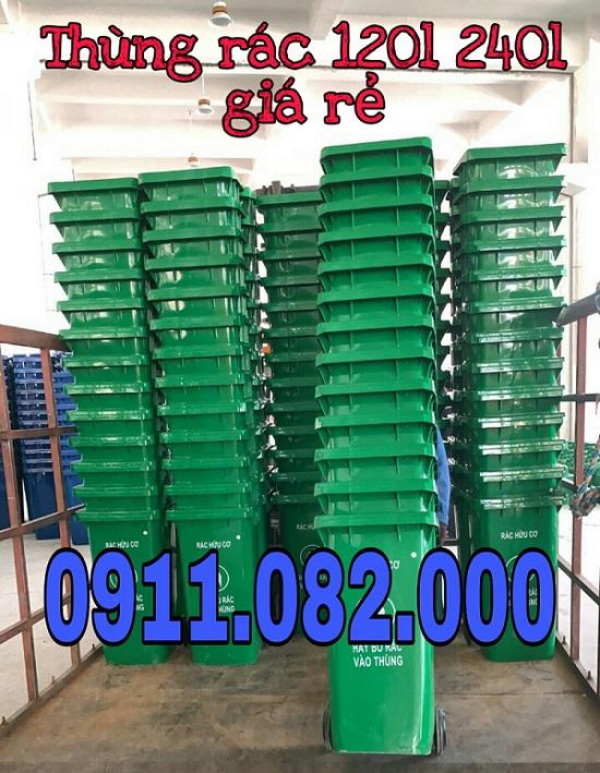 Mua thùng rác 120 lít ở đâu giá rẻ- thùng rác 240l 660l- lh 0911.082.000