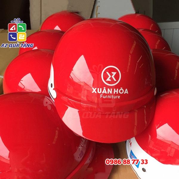 Mũ bảo hiểm nửa đầu in logo giá rẻ nhất tại Hà Nội