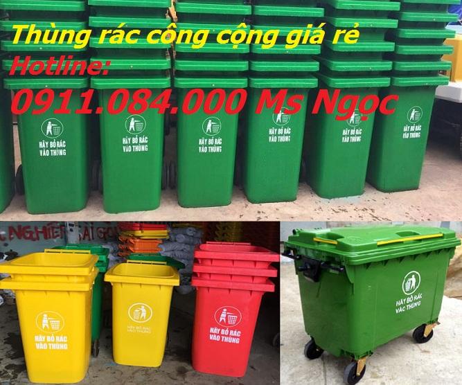 Phân phối thùng rác nhựa Sài Gòn 240L rẻ nhất Quận 5 – Call: 0911.084.000 Ms Ngọc