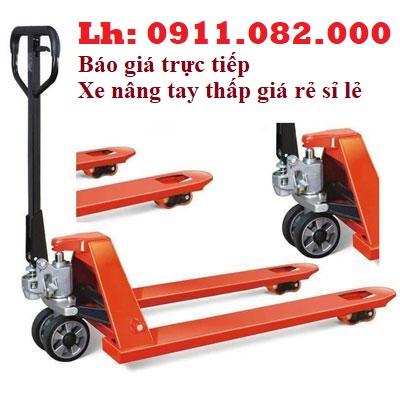 Phân phối xe nâng tay thấp 3 tấn giá rẻ tại cà mau- xe nâng tay niuli đài loan- lh 0911082000
