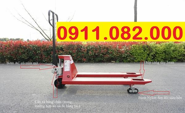 Phân phối xe nâng tay thấp 3 tấn giá rẻ tại long an- lh 0911.082.000