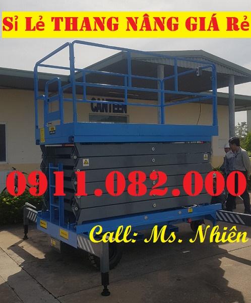 Thang  nâng điện 8 mét giá rẻ tại cần thơ- lh 0911082000