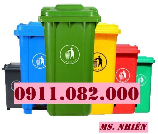 Thanh lý thùng rác 120 lít 240 lít giá rẻ tại sóc trăng- thùng rác màu xanh hàng mới 100%- lh 0911082000