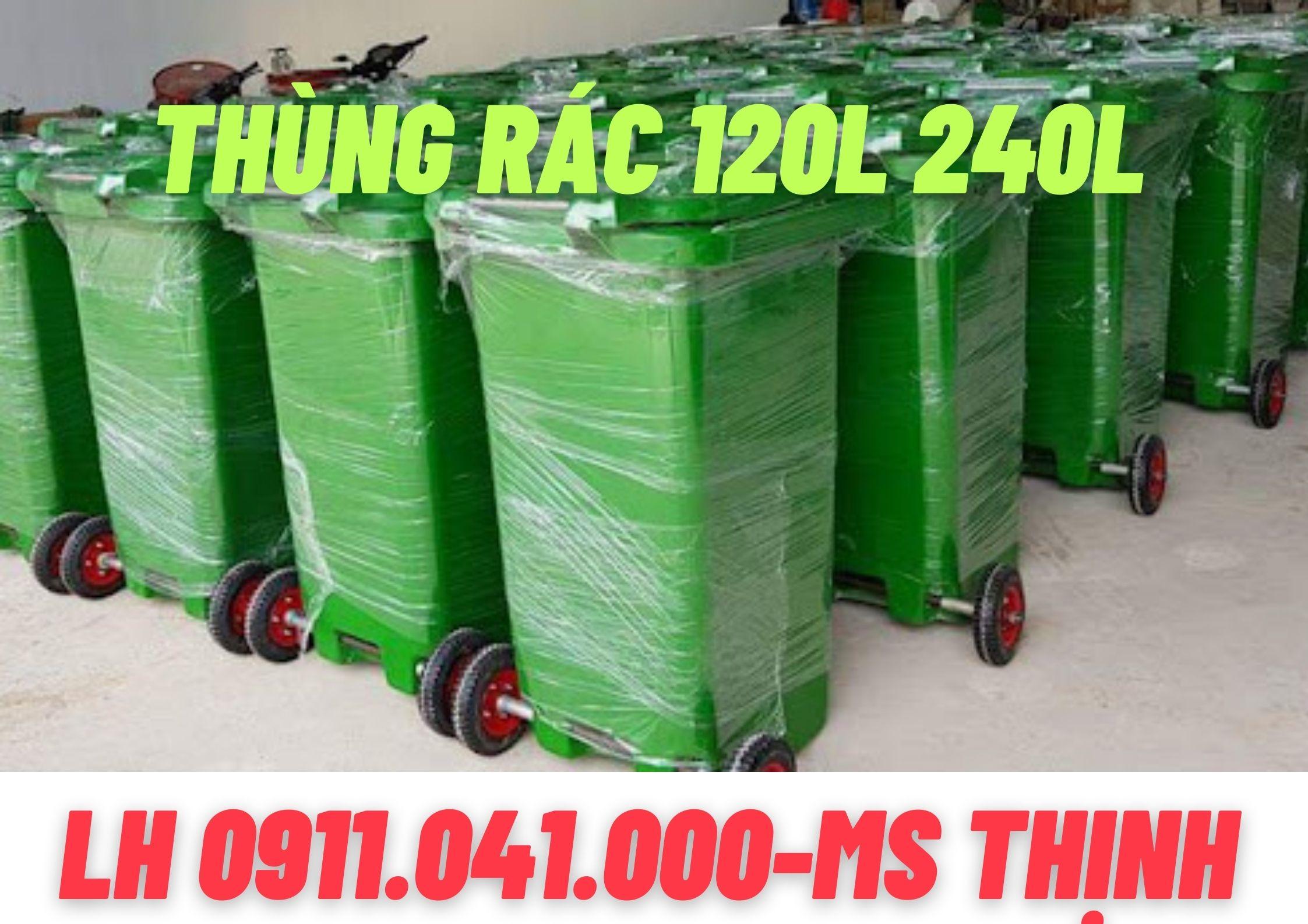 Thùng rác 120lit 240lit thùng rác sỉ lẻ giá rẻ 0911.041.000