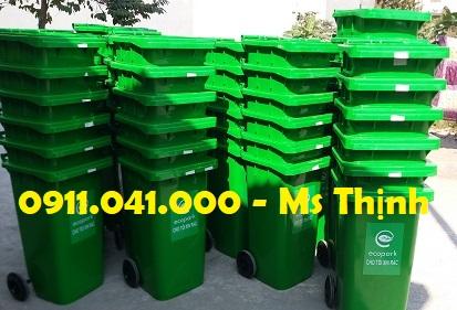 Thùng rác 120lit bảo vệ môi trường lh 0911.041.000