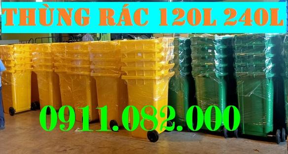 Thùng rác 120 lít y tế màu vàng giá rẻ tại cần thơ- lh 0911082000 Nhiên