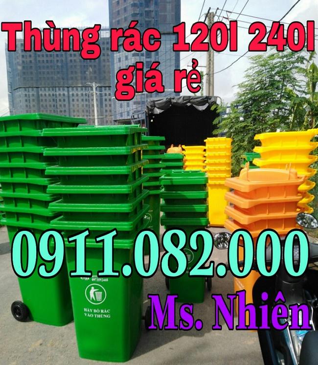Thùng rác 240 lít giá rẻ nhất-lh 0911.082.000