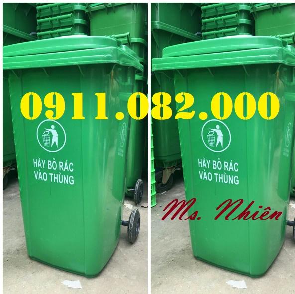 Thùng rác giá rẻ hàng đầu việt nam- thùng rác 120L 240L 660L giá rẻ- lh 0911082000