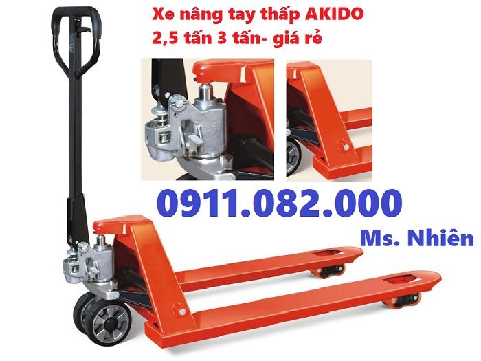Xe nâng tay 3 tấn giá rẻ tại cần thơ- lh 0911082000
